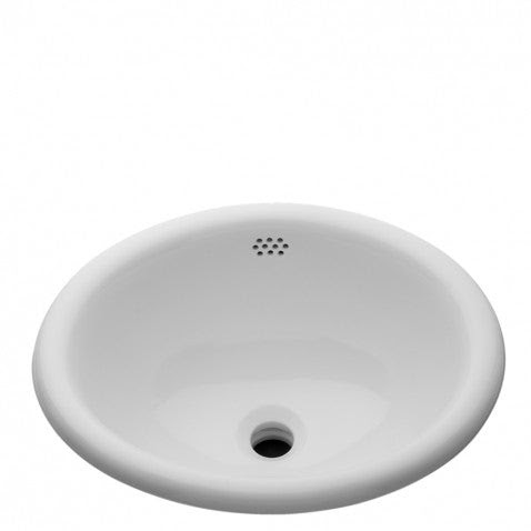 Waterworks Manchester Drop In Oval Vitreous China Bathroom Sink In