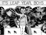 Sunday States newspaper with leap year headline