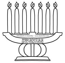dulemba: Coloring Page Tuesdays - Kwanzaa and New Years!