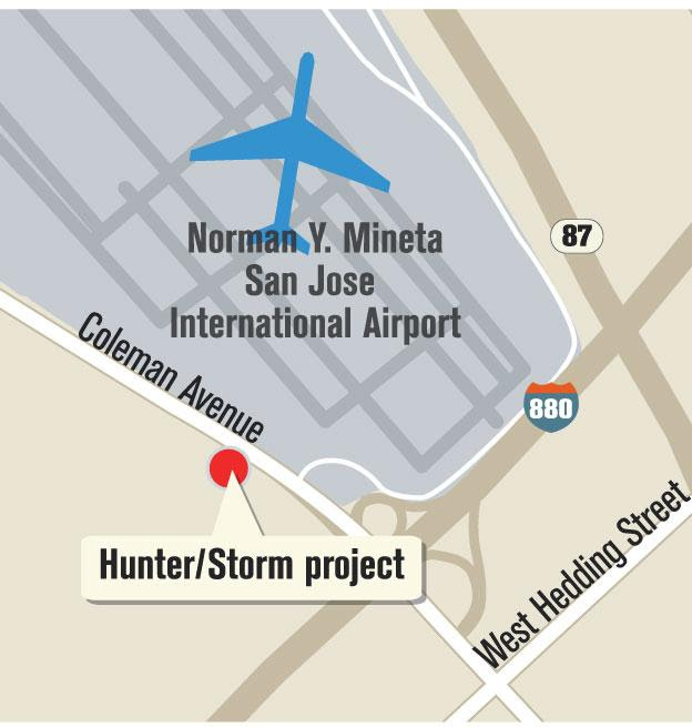 Locator Map of Hunter Storm project