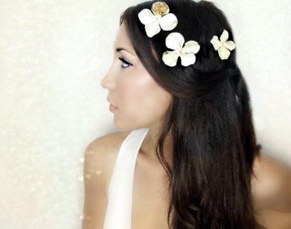 Gold Flower Hair Clips Hair Flower wedding hairbridal hair accessory