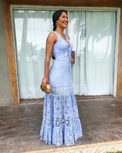 Fotos do vestido de Thaynara OG casamento Whindersson