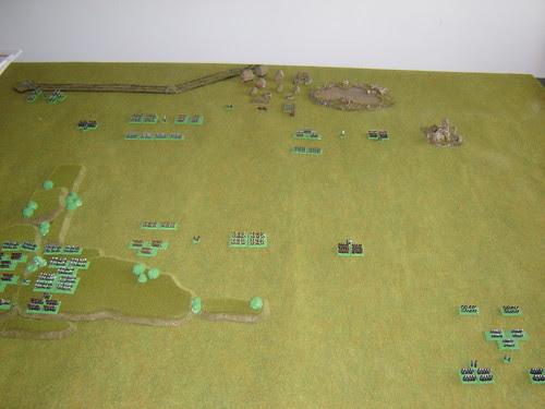 Battlefield in early morning