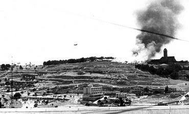 IAF plane near Augusta Victoria Hospital