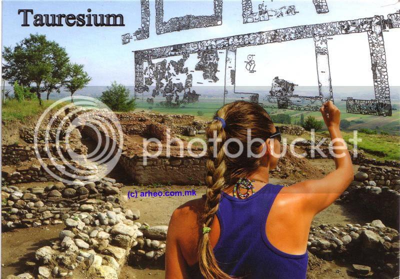 Разгледница од археолошкиот локалитет Таор