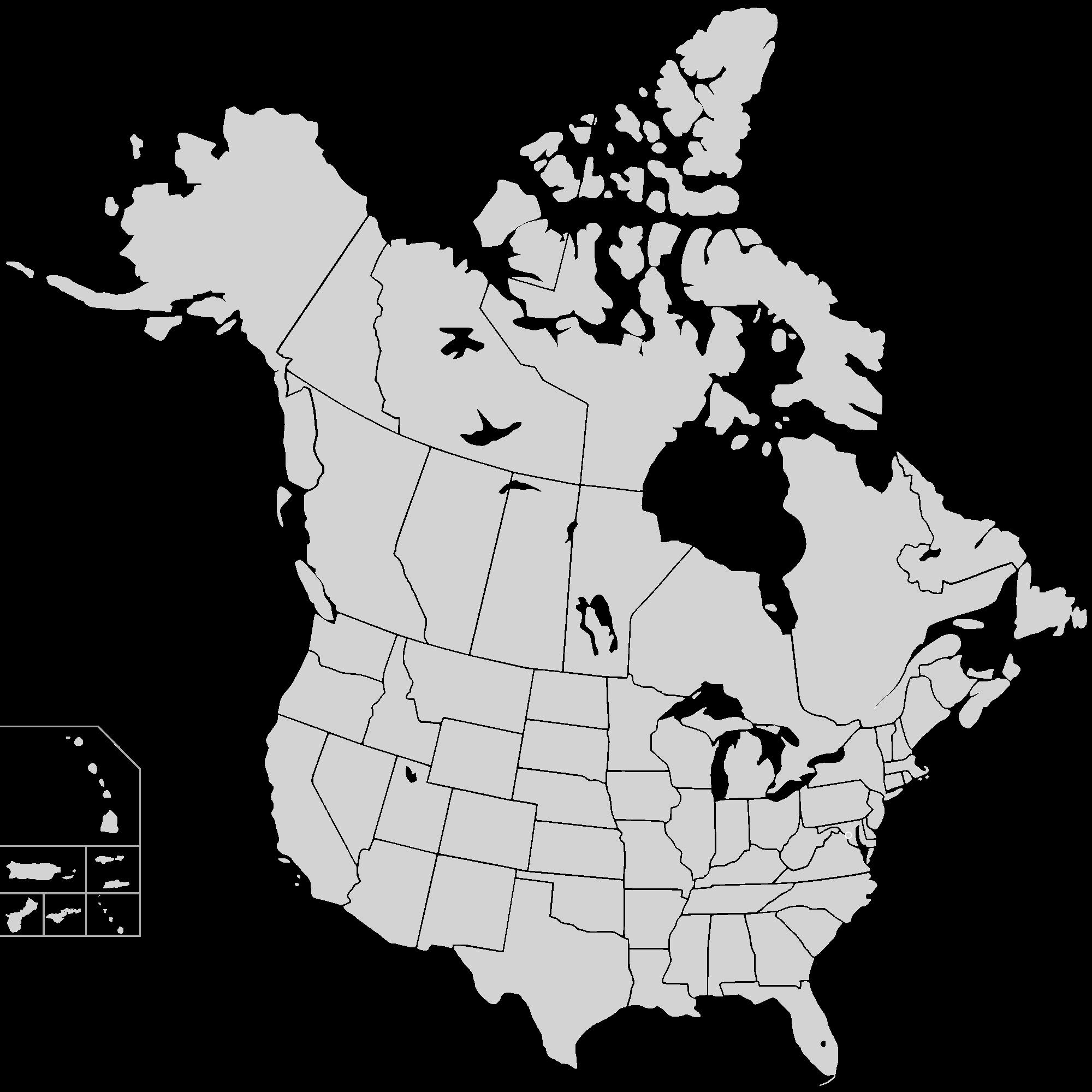 Map United States And Canada   denbtk