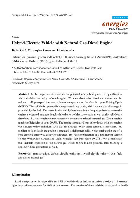 (PDF) Hybrid-Electric Vehicle with Natural Gas-Diesel Engine