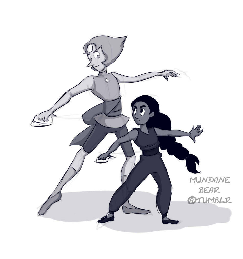 Connie the Sword Fighter. Watched the ep again so I did a quick drawing of these two before heading out. I can't wait for the new episode tonight!
