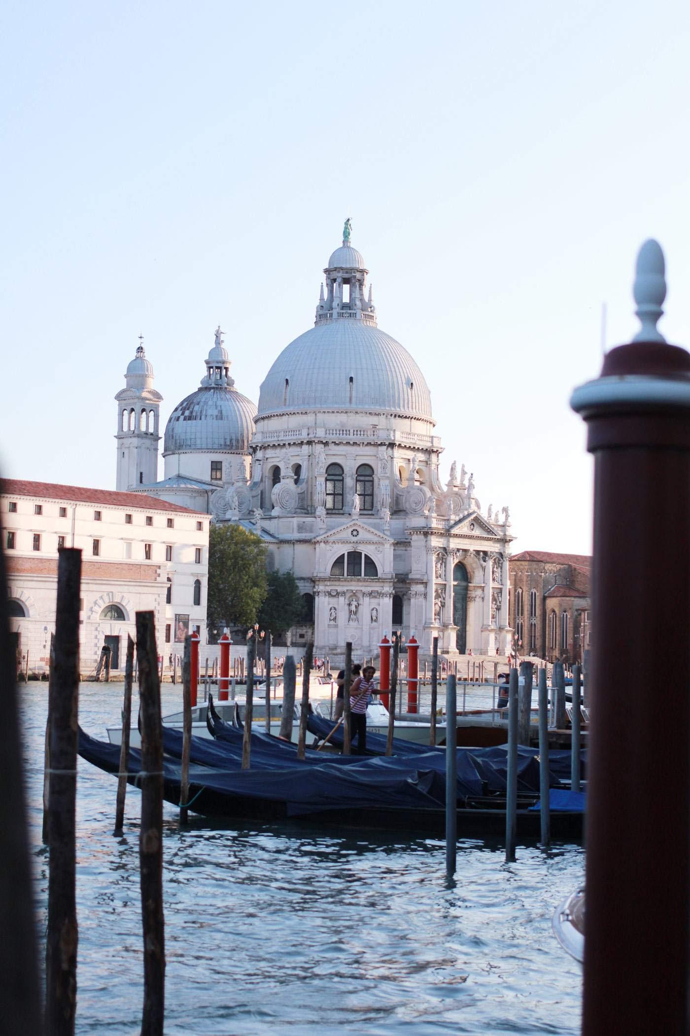 Venice gondolas canal