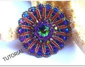 Bead tutorial, Eros Pendant  with swarovski crystals and beads. ONLY PATTERN - 75marghe75