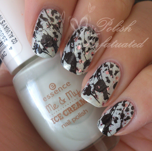 splatter stamping on always in my mint layered and razzle & dazzle