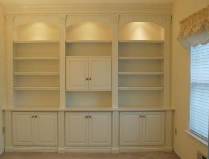 librerie a parete in legno bianco trento