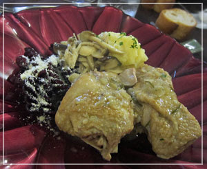 田中玉緒さんの料理教室で。ゴージャスなメインディッシュ!