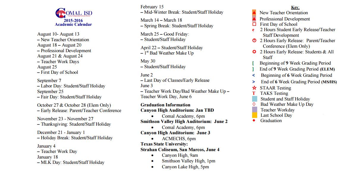 2022 Calendar: Comal Isd Calendar 2021