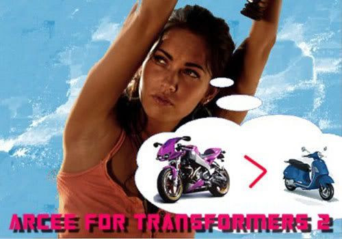 Best Film Scene of 2009: Megan Fox going 90 MPH on a transforming motorcycle.