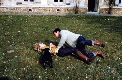 Romy Schneider and Alain Delon.