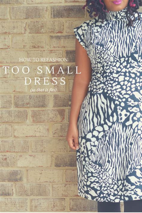 Upsize A Too Small Dress   Thriftanista in the City