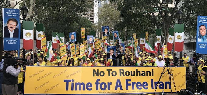 Powerful Protest by Iranian Activists Over Rouhani's Speech at UN