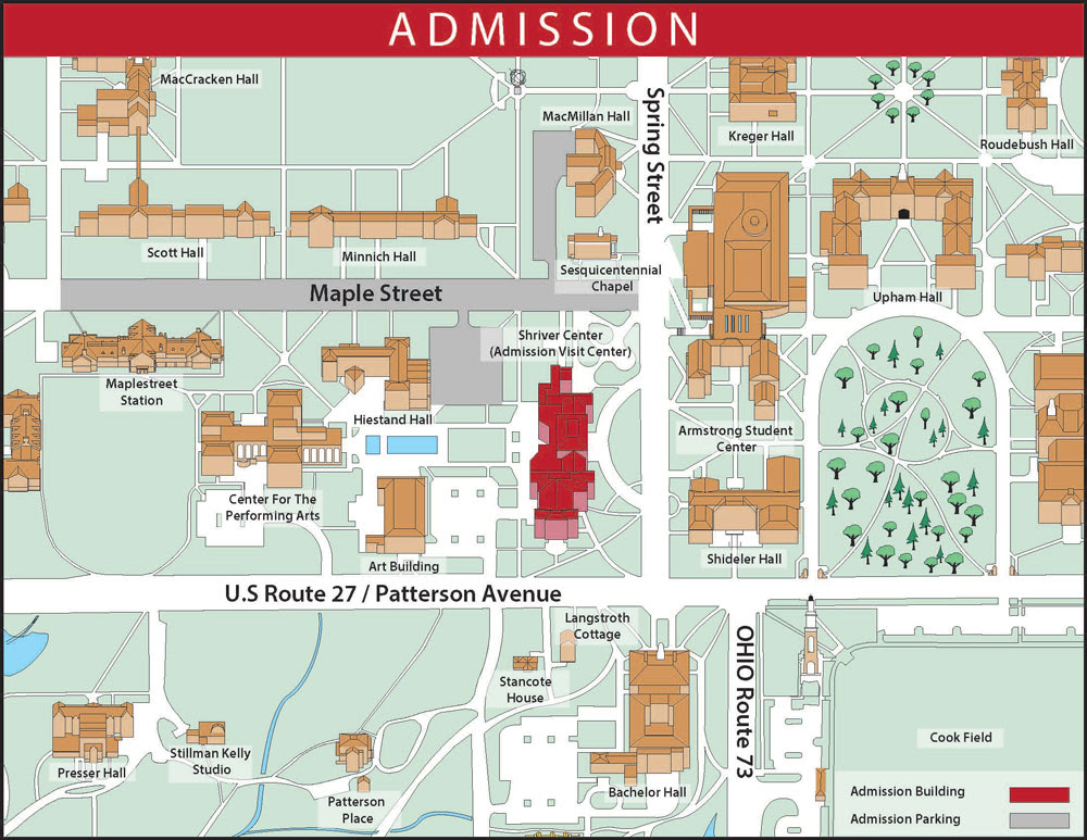 Miami Ohio Campus Map World Map Gray