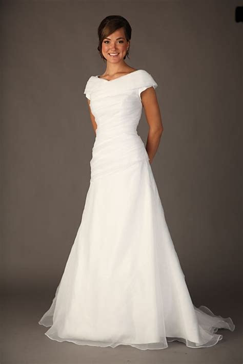 modest wedding dresses   The Pink Peony of Le Jardin