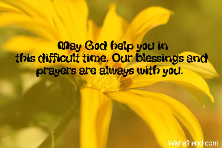 May God Help You In Sympathy Message