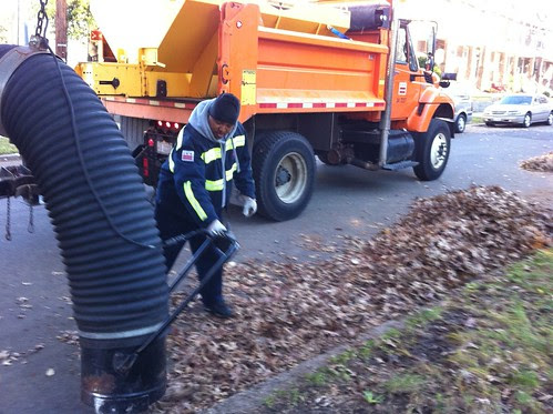DC Dept Public Works Leaf Collection in Action
