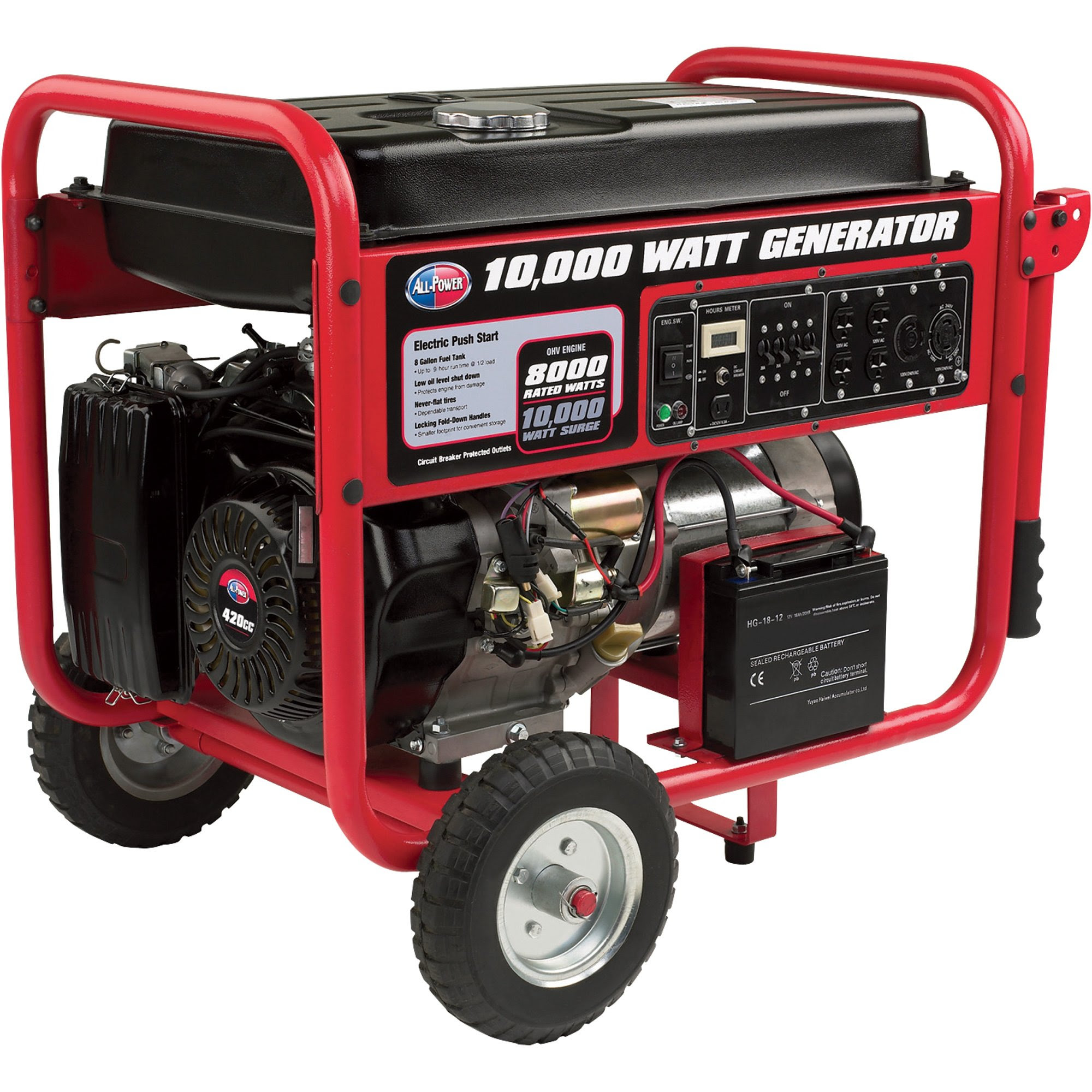 Product: All Power Portable Generator — 10,000 Watt, Electric Start, Model APGG1000