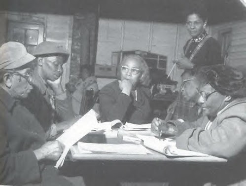 Mrs. Septima Clark conducting a citizenship class. Her work in educating activists during the civil rights era was essential in preparing African-Americans for the emerging political phase of the struggle. by Pan-African News Wire File Photos