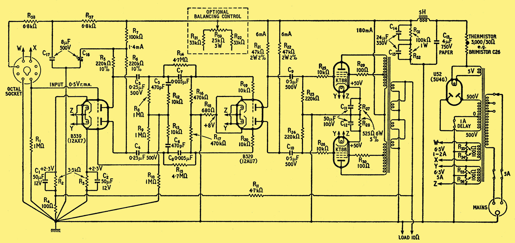 Npa 4000 Power Amp Circuit - Plete Circuit Diagram Of The Main Ampilifier  Resistors Are Rated