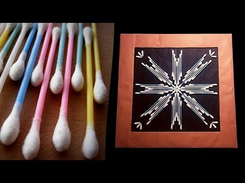 How to make very easily wallmate with cotton buds