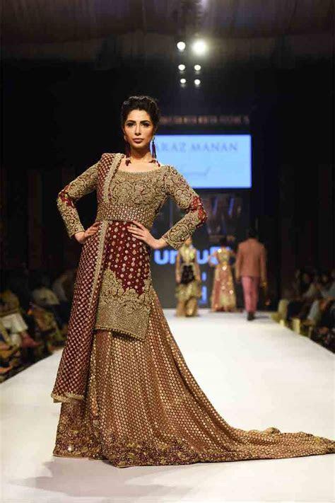 Pakistani Bridal Long Tail Maxi Dress Designs 2019