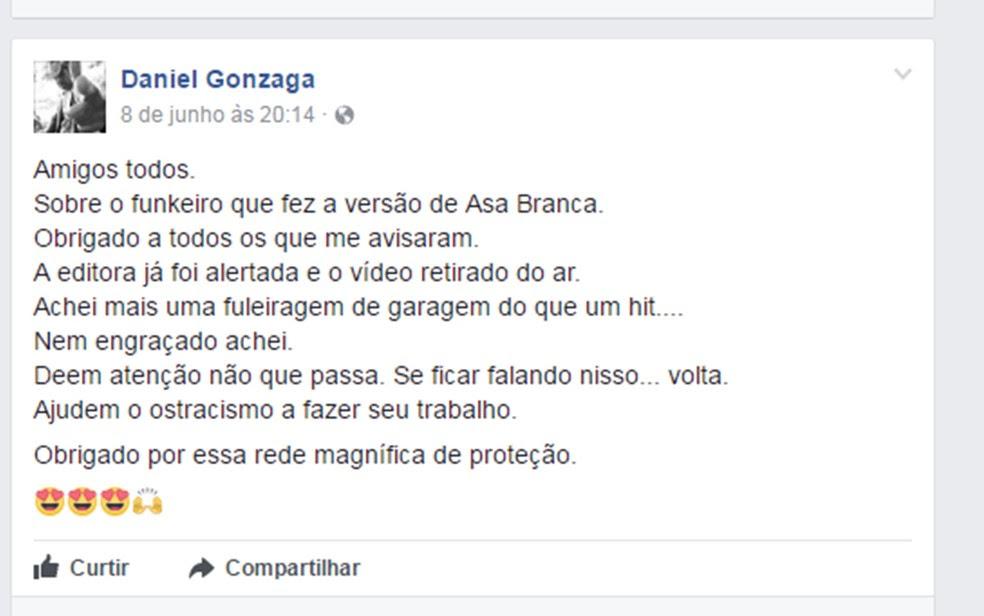 Família de Luiz Gonzaga criticou a versão feita de 'Asa Branca' (Foto: Reprodução/Facebook)