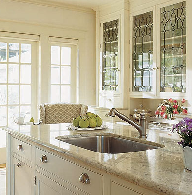 Designer Kitchens: Glass-front Cabinets | Simplified BeeSimplified Bee