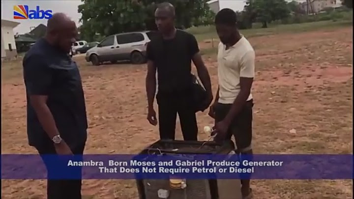Two Anambra Technicians Manufacture Generator That Runs Without Fuel, Gas