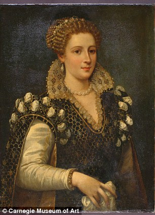 Portrait of Isabella de' Cosimo I de Medici, c. 1574 (before restoration)