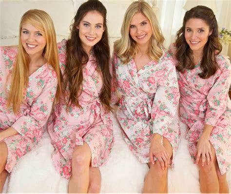 Bridesmaid Floral Robes   The Paisley Box