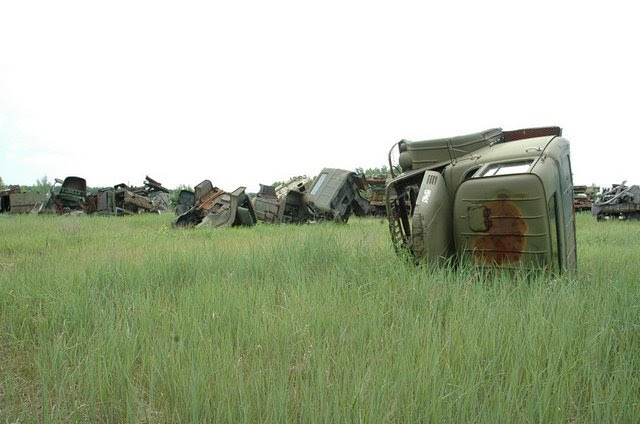 Abandoned Russian army scrap metal 13