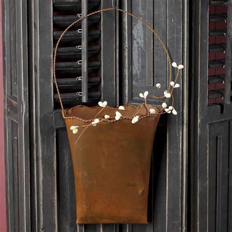 Rusty Tin Wall Pocket   Baskets, Buckets, & Boxes   Home Decor