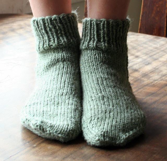 Grace in her slipper socks