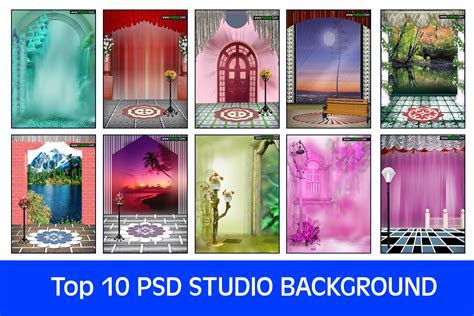 Top 10 PSD Studio Background on Zip Package   PsdStar