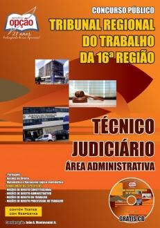 TRT 16ª Região / MA-TÉCNICO JUDICIÁRIO – - ÁREA ADMINISTRATIVA