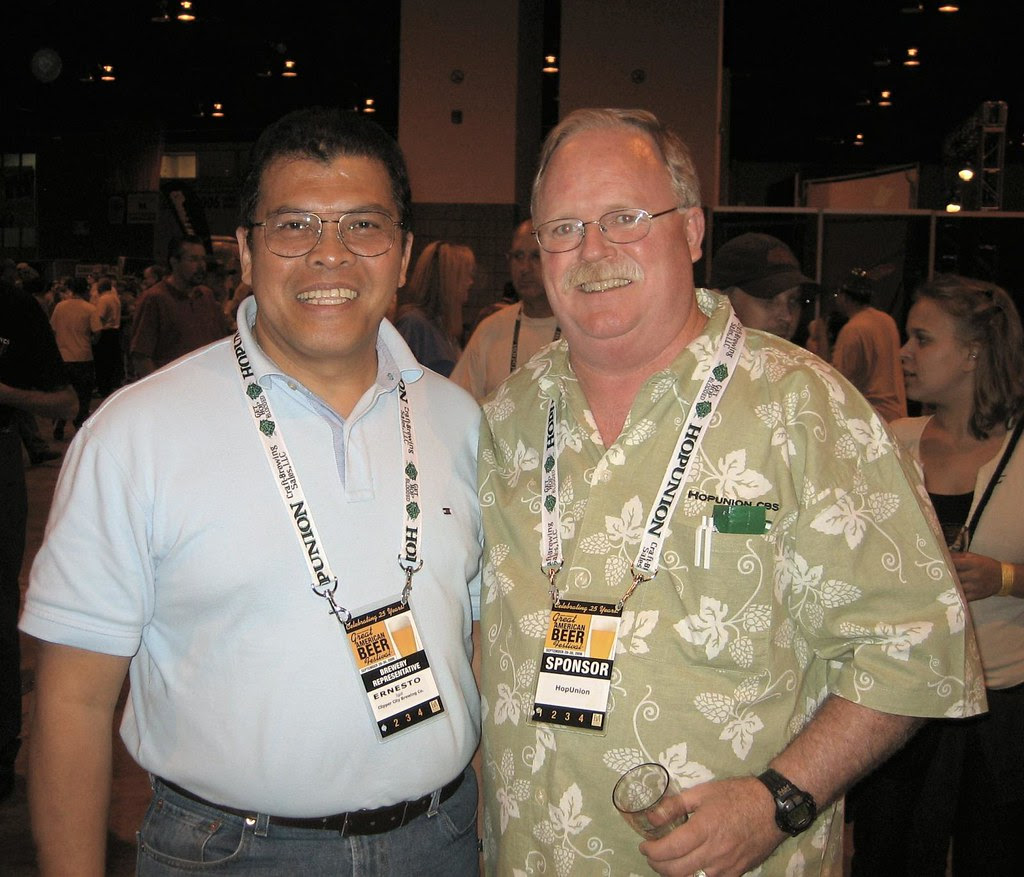 Ernesto Igot (l) and Ralph Woodall of Hop Union