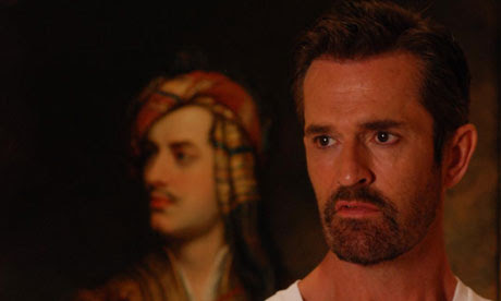 Rupert Everett with a portrait of Byron