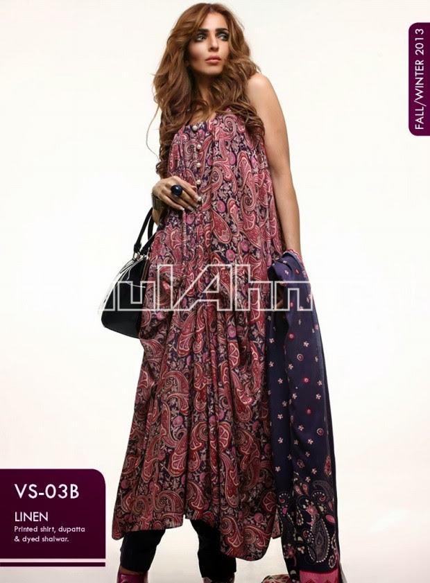 Beautiful-Cute-Girls-New-Fashionable-Dress-Design-by-Gul-Ahmed-Fall-Winter-Collection-2013-14-1