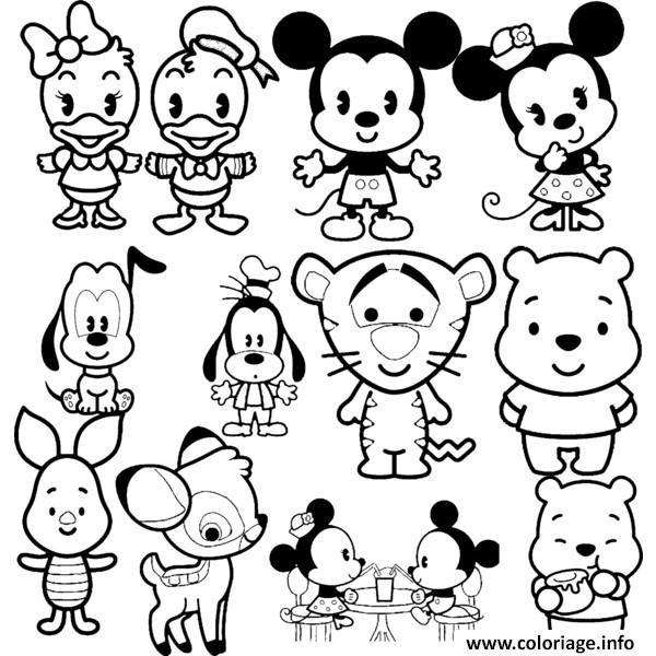 Coloriage Disney Cuties Tsum Tsum Jecoloriecom