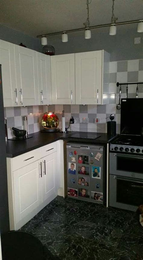 white ronseal cupboard paint fablon work tops kitchen