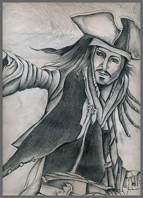 johnny depp pencil drawing  jack sparrow  soumen roy