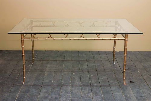 faux_bamboo_gold_gilt_hollywood_regency_dining_table_1