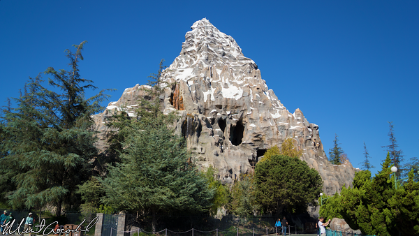 Disneyland Resort, Disneyland, Matterhorn, Bobsleds, Trees, Drop, Tomorrowland, Side