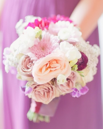 Lush and colorful bridesmaid's bouquet